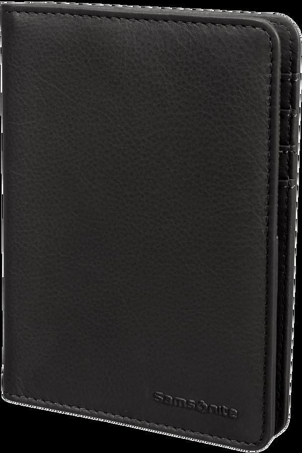 Samsonite Global Ta ID Leather Passport Cover  Schwarz