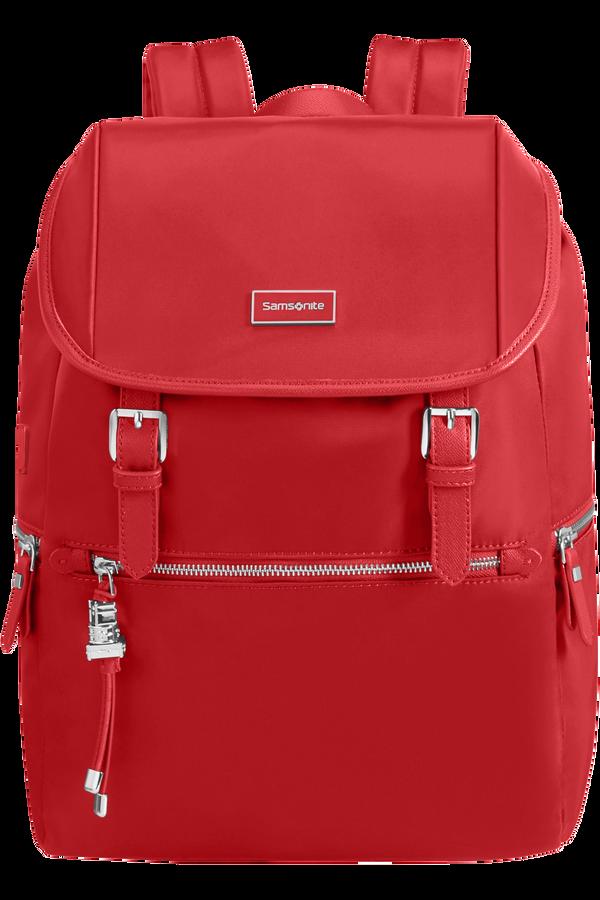 Samsonite Karissa Biz Backpack 14.1'+Flap W/Usb  Formula Red
