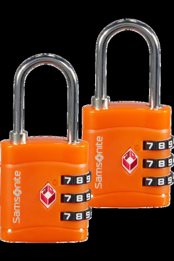 Samsonite Global Ta Combilock 3 dial TSA x2 Orange