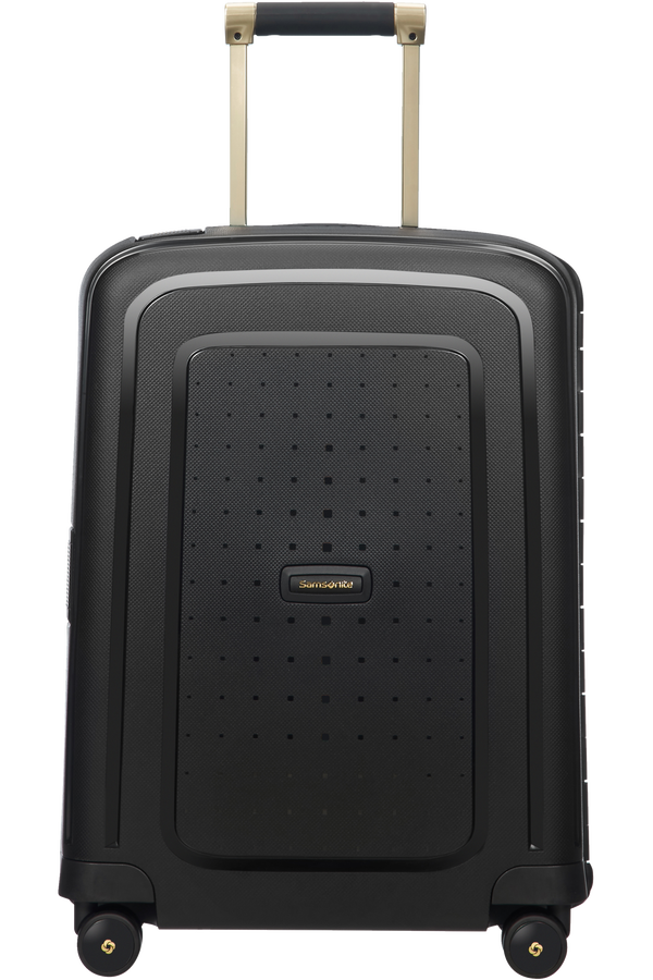 Samsonite S'Cure DLX Spinner 55cm/20inch  Black/Gold Deluscious