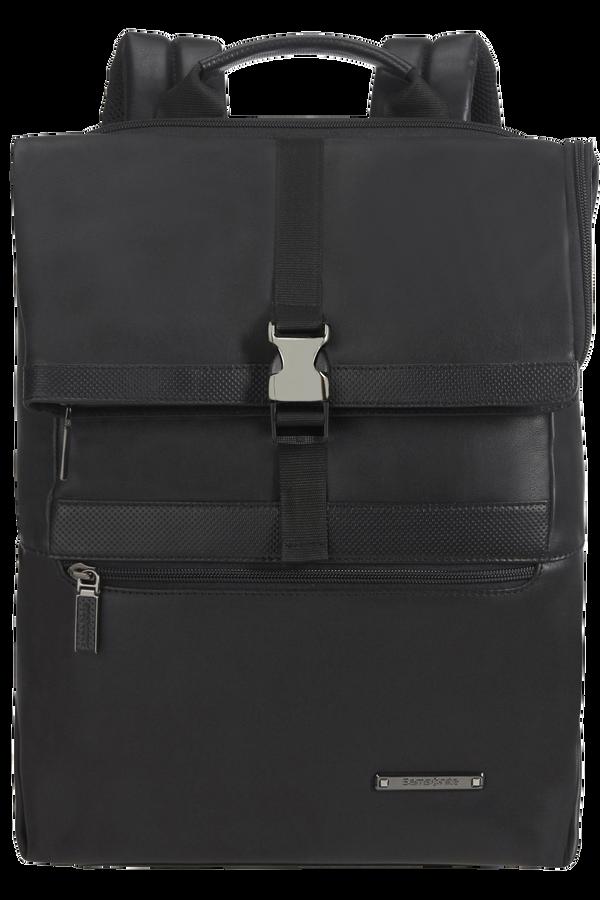 Samsonite Asterism Lth Laptop Backpack Flap Slim  15.6inch Schwarz