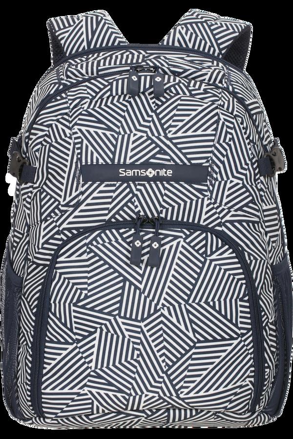 Samsonite Rewind Laptop Backpack M  Navy Blue Stripes