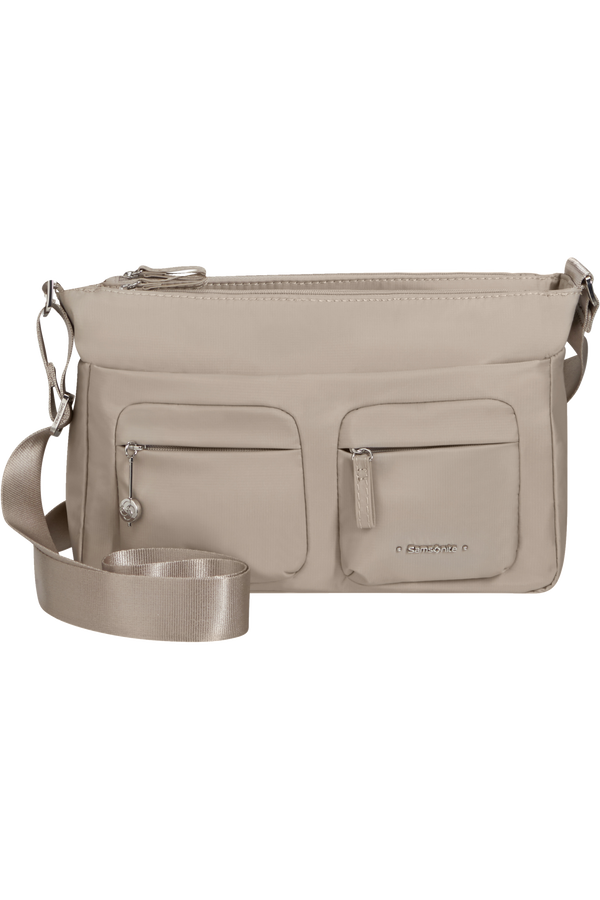 Samsonite Move 3.0 Horizontal Shoulder Bag+Flap  Light grey