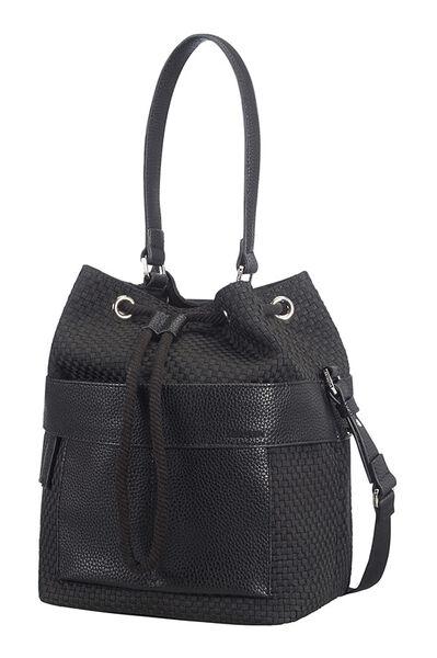 Weave Handtasche Schwarz