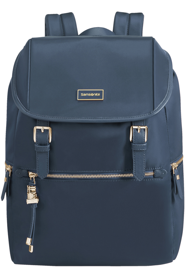 Samsonite Karissa Biz Backpack +Flap  14.1inch Dark Navy