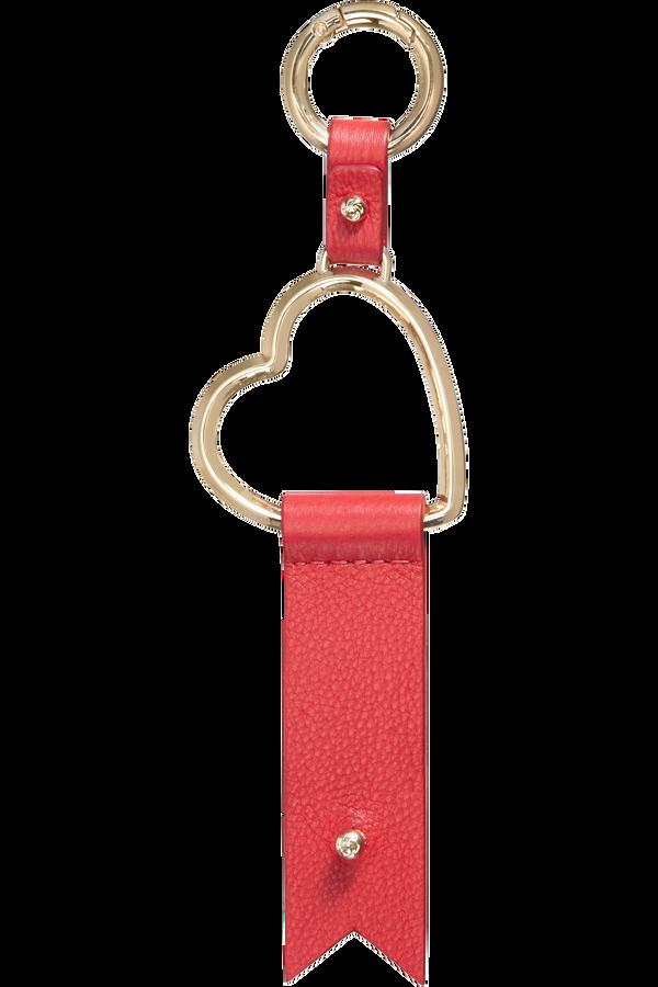 Samsonite Lady Charmy Heart Key Ring  Rot