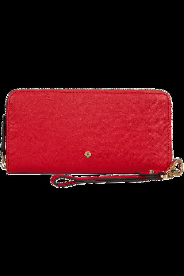 Samsonite Wavy Slg 319 - L ZIP AROUND L  Classic Red