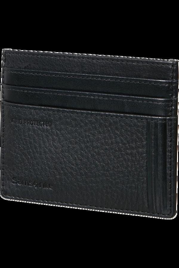 Samsonite Double Leather Slg 732 - 6CC H S  Schwarz