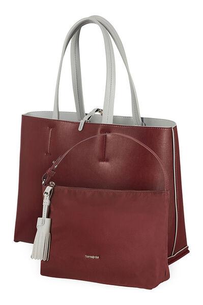 2Ice Shopping Bag Light Grey/Plum