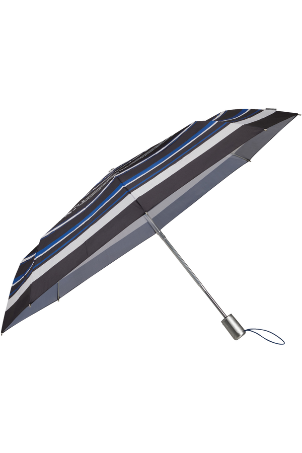 Samsonite Alu Drop S Safe 3 Sect. Auto O/C  Blue Stripes
