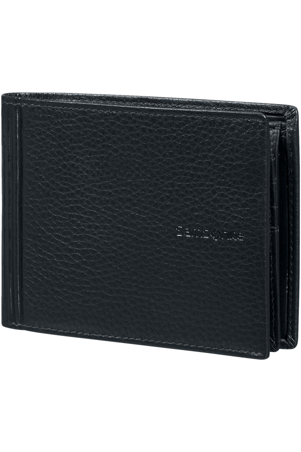 Samsonite Double Leather Slg 007 - B 7CC+VFL+C+2C+W  Schwarz
