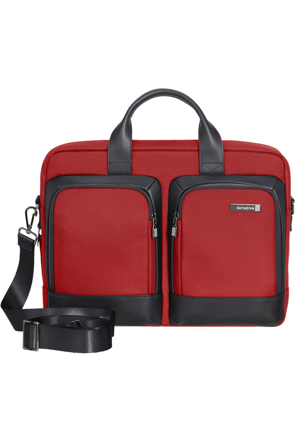 Samsonite Safton Bailhandle 15.6inch  Barn Red/Black