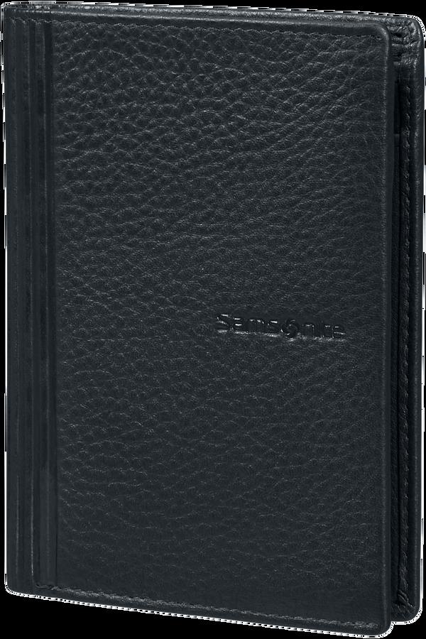 Samsonite Double Leather Slg 137 - W 6CC+HFL+2W+2C  Schwarz