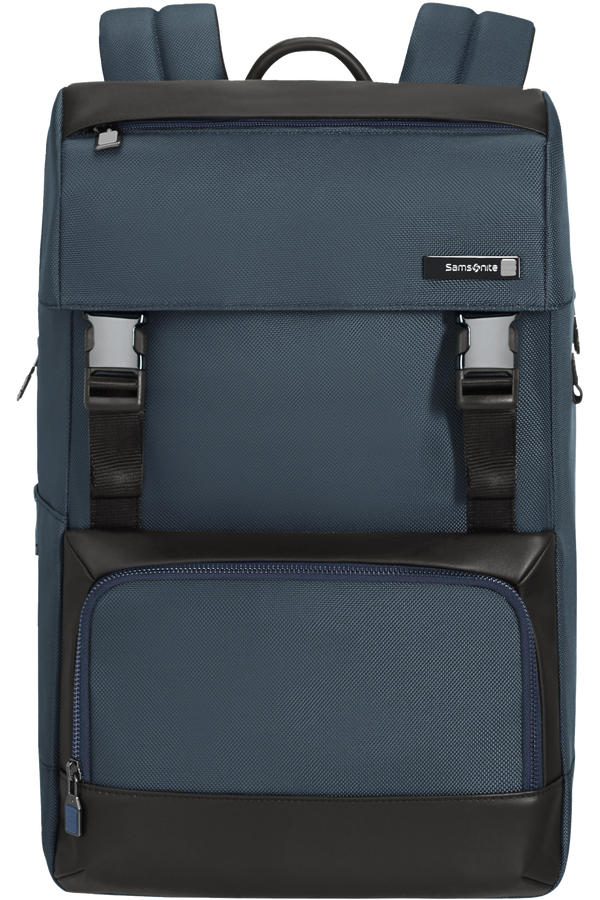 Samsonite Safton Laptop Backpack Flap  15.6inch Blau