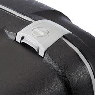 Dreipunkt-TSA-Verschlusssystem für sicheres Reisen in die USA.