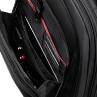 Große vordere Reißverschlusstasche mit Innenaufteilung für alle Zwecke.