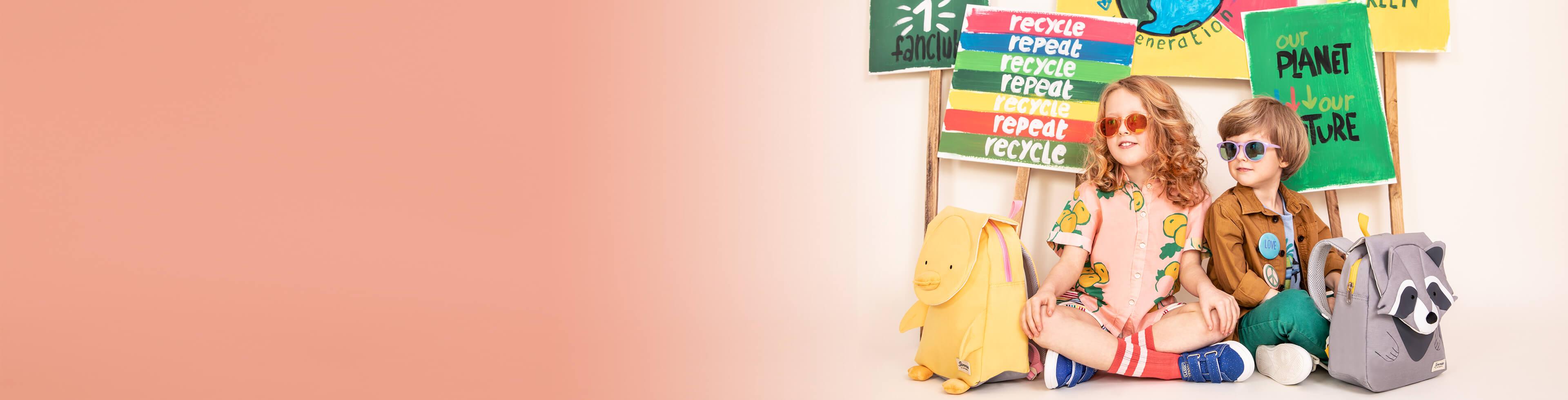 Umweltfreundliche Taschen und Koffer für Kinder